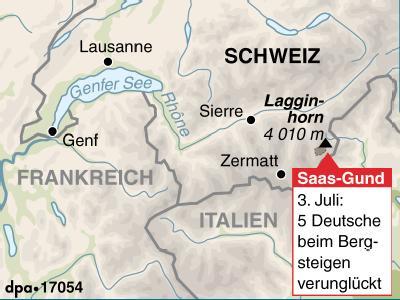 Bergunglück in den Walliser Alpen