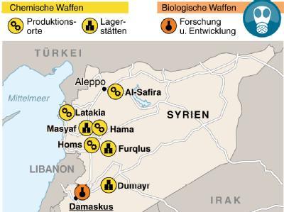Anlagen für chemische und biologische Waffen in Syrien. Foto: F. Bökelmann/A. Brühl
