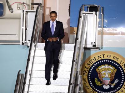 US-Präsident Obama trifft zum G20-Gipfel in Südkorea ein.