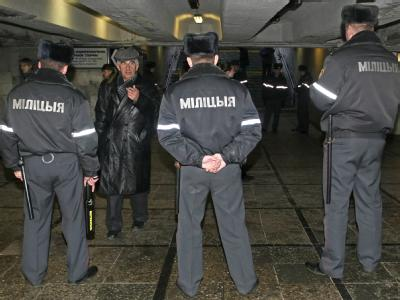 Polizeieinsatz in Minsk
