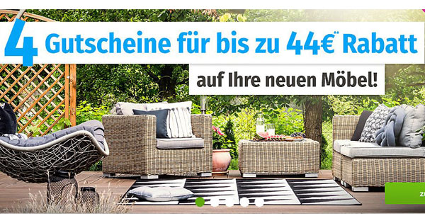 GartenXXL: Bis zu 44€ Rabatt auf neue Gartenmöbel