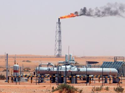 Ölfeld in Saudi-Arabien