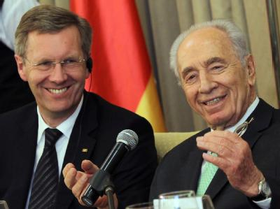 Christian Wulff und Shimon Peres