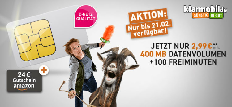 telekom netz 100 min 400mb f r eff 1 99 monat dank 24 amazon gutschein. Black Bedroom Furniture Sets. Home Design Ideas