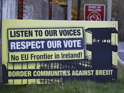 Anti-Brexit-Schild in Irland